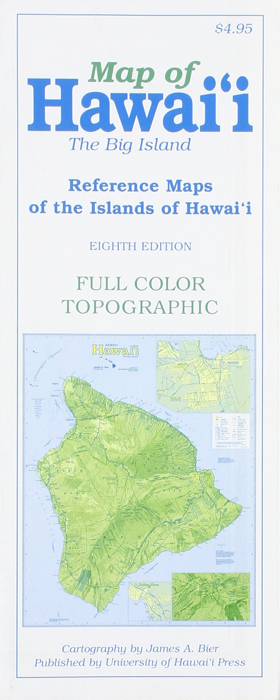 Map of Hawaii The Big Island James A Bier 9780824834395 Amazon