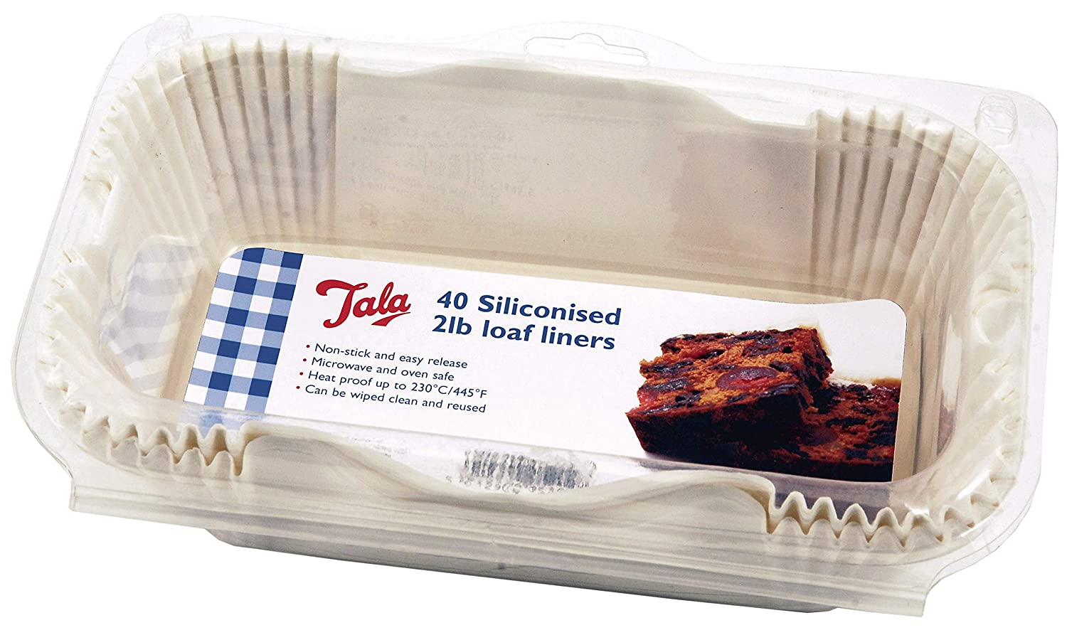 Cream Tala 10A05202 Siliconised Loaf Liners