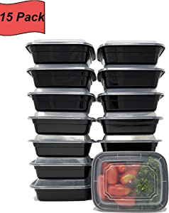 FitHelp - MINI Meal Prep Containers [15 pack] - 12 oz | Microwaveable, Dishwasher and Freezer Safe | Bento Style Lunch Boxes for Portion Control | Quality and Safety