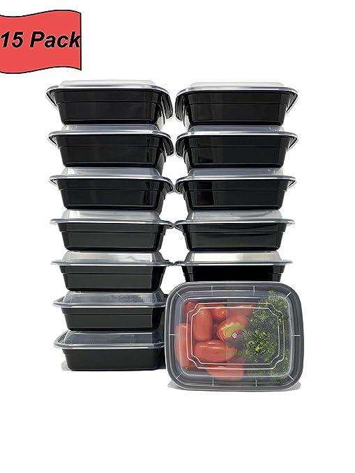 FitHelp - 12 oz Mini contenedores de comida preparada [15 ...