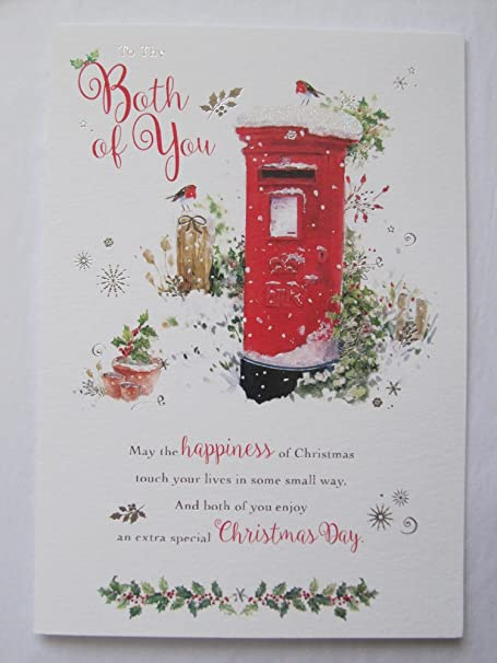 Large beautiful colourful to the both of you christmas greeting card large beautiful colourful to the both of you christmas greeting card m4hsunfo