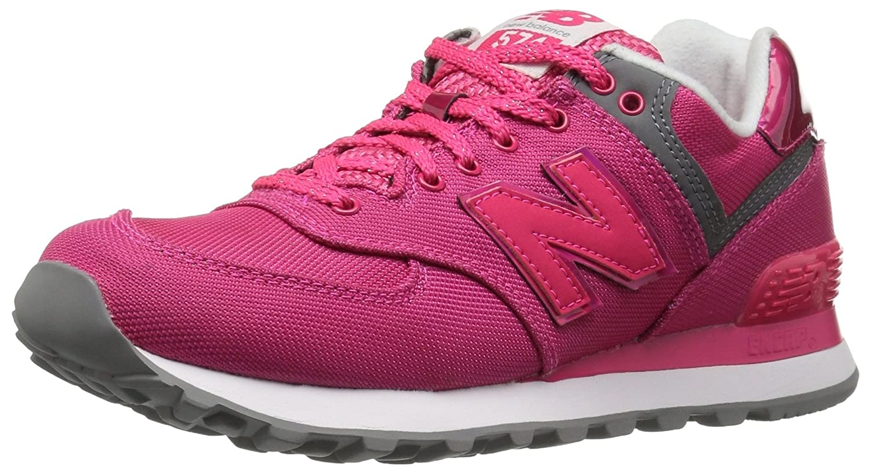 New Balance Women's WL574V1 Fashion Sneaker B01GRMHPZW 5 B(M) US Pomegranate/Pomegranate