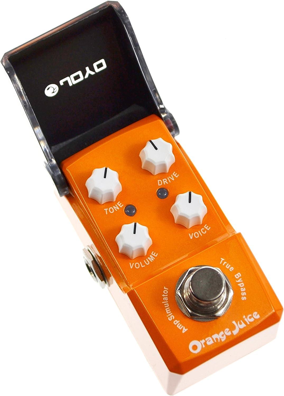 Joyo JF-310 Ironman Orange Juice - Minipedal de efectos para guitarra con simulador de amplificador
