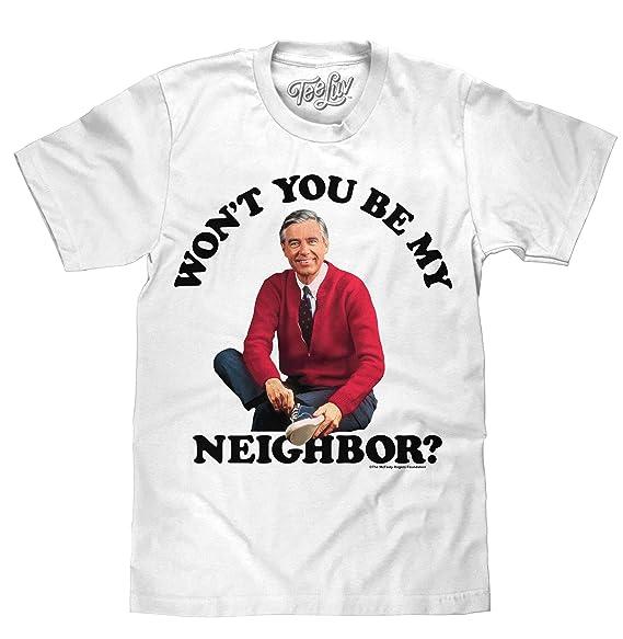 250c9089cda Amazon.com  Tee Luv Mr Rogers T-Shirt - Won t You Be My Neighbor ...