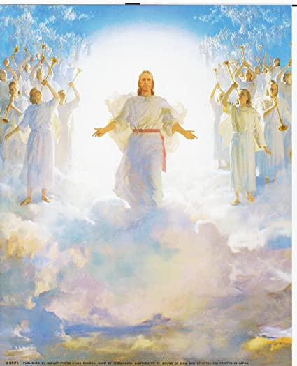 Amazon jesus christ second coming religious art print poster jesus christ second coming religious art print poster 16x20 thecheapjerseys Choice Image