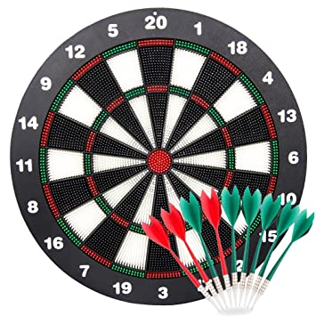 Limiwulw Safety Dart Board For Kids 16 Inch Rubber Dart Board Set