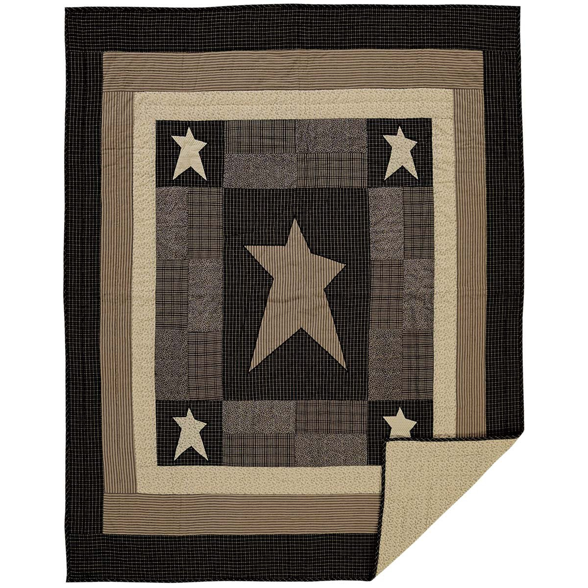 Primitive Star Signature Custom Quilted Throw