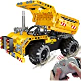 STEM Engineering Toys | Dump Truck Building Set with Remote Control, Fun Educational Construction Toy for Boys and Girls…