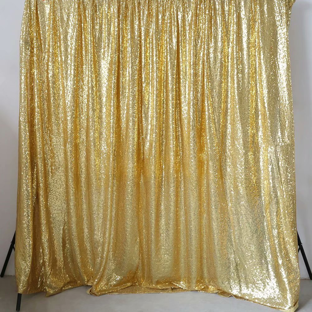 GFCC Gold 20x10ft Sequin Backdrop Wedding Party Christmas Decoration Home Favors Photo Booth Backdround