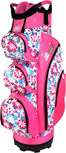 Birdie Babe Flower Power Pink Womens Golf Cart Bag
