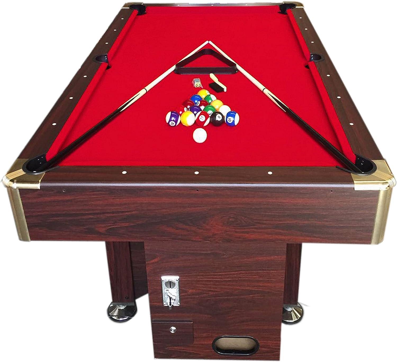 Mesa de billar juegos de billar pool 7 ft carambola con monedero ...
