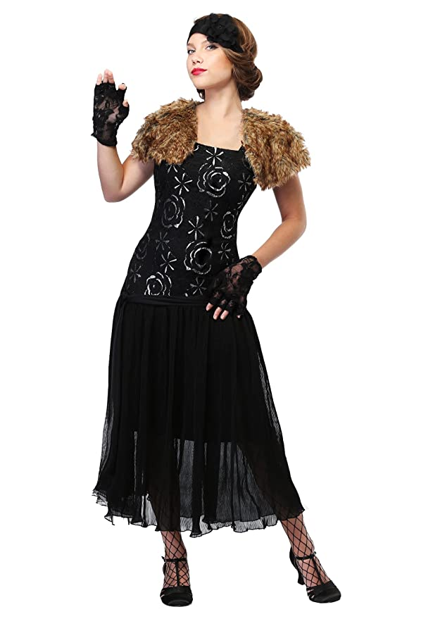 Black Flapper Dresses, 1920s Black Dresses Womens Plus Size Charleston Flapper Costume Womens Flapper $54.99 AT vintagedancer.com