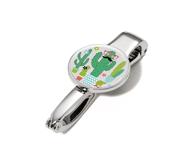 TROIKA MR. MEXICO – #BGH03-A176 – Handtaschenhalter und -clip – Kaktus – hält bis zu 5 kg – Metall– glänzend – poliert – mehrfarbig, silber – TROIKA-Original TR-#BGH03-A176