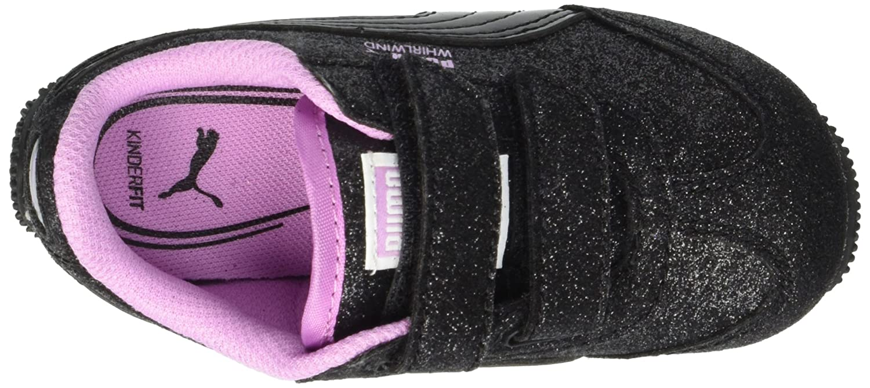 PUMA Unisex Kids Whirlwind Glitz Velcro Sneaker