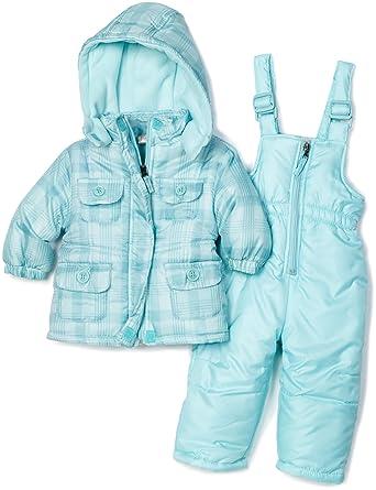 bf895c001fb4 Amazon.com  Pink Platinum Baby Girls  Tonal Plaid Snowsuit Bibset ...