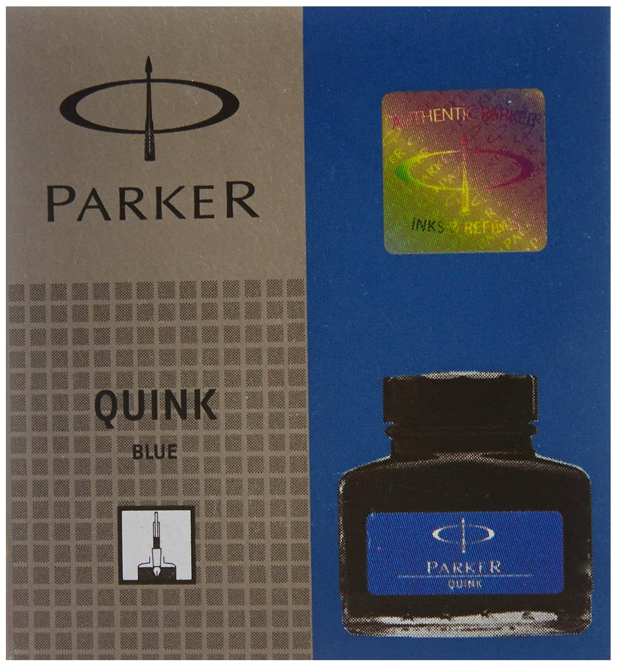 Parker Quink Ink Bottle, Blue