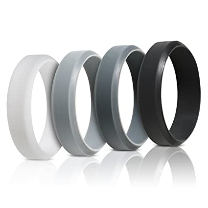 Amazon Com Saco Band Silicone Rings For Men 7pack 4pack