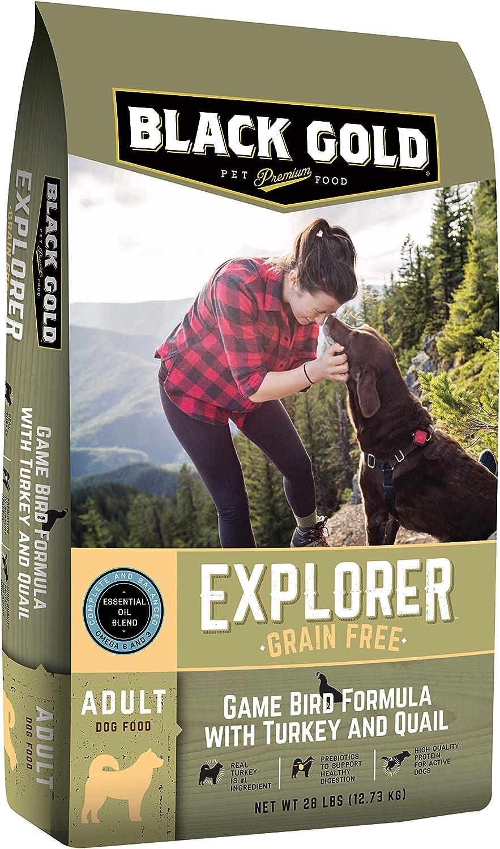 Black Gold Explorer Grain Free Game Bird Recipe with Turkey & Quail Dry Dog Food