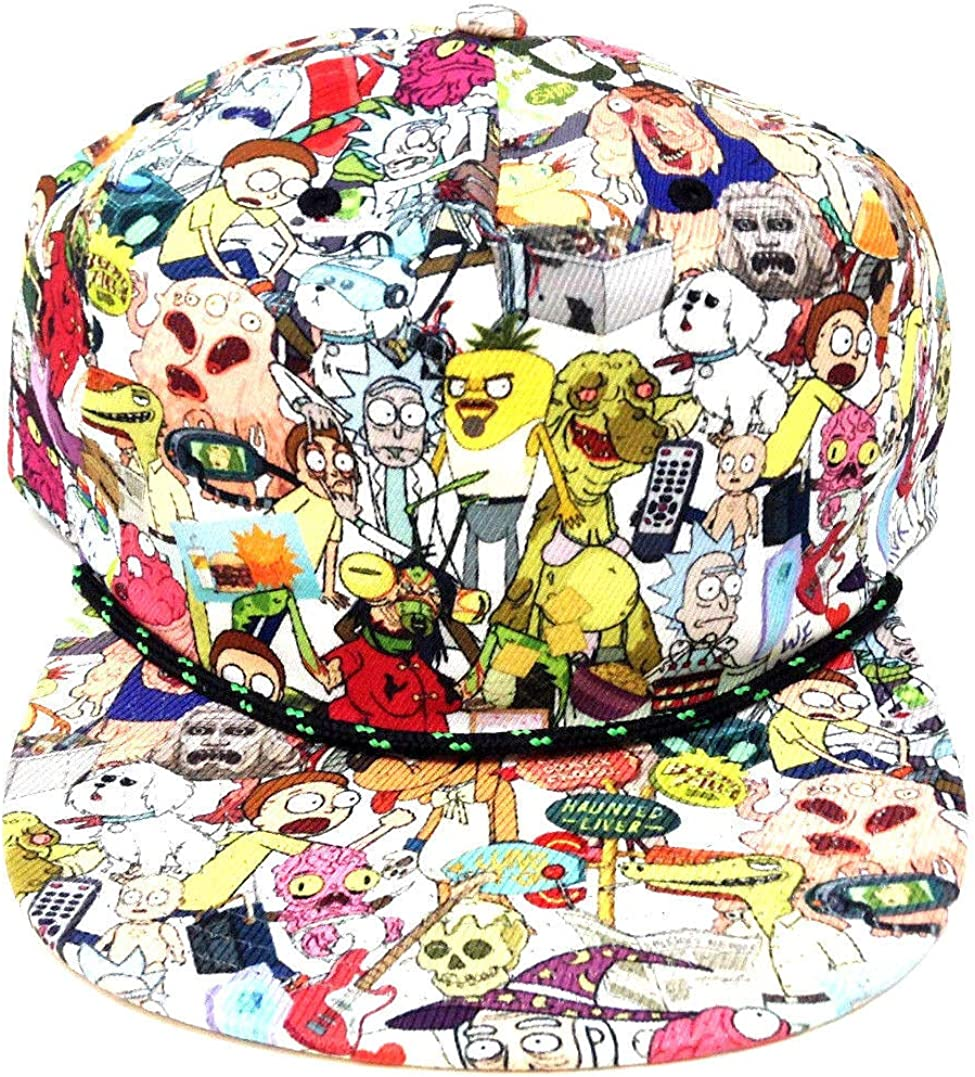 Rick & Morty Characters Sublimated All Over Print Snapback