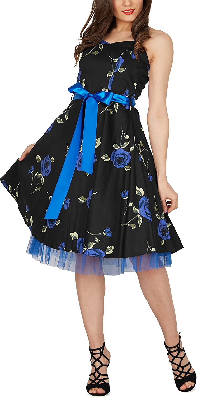 Amazon.com: BlackButterfly Black Butterfly Rhya Vintage Infinity 50s Dress: Clothing