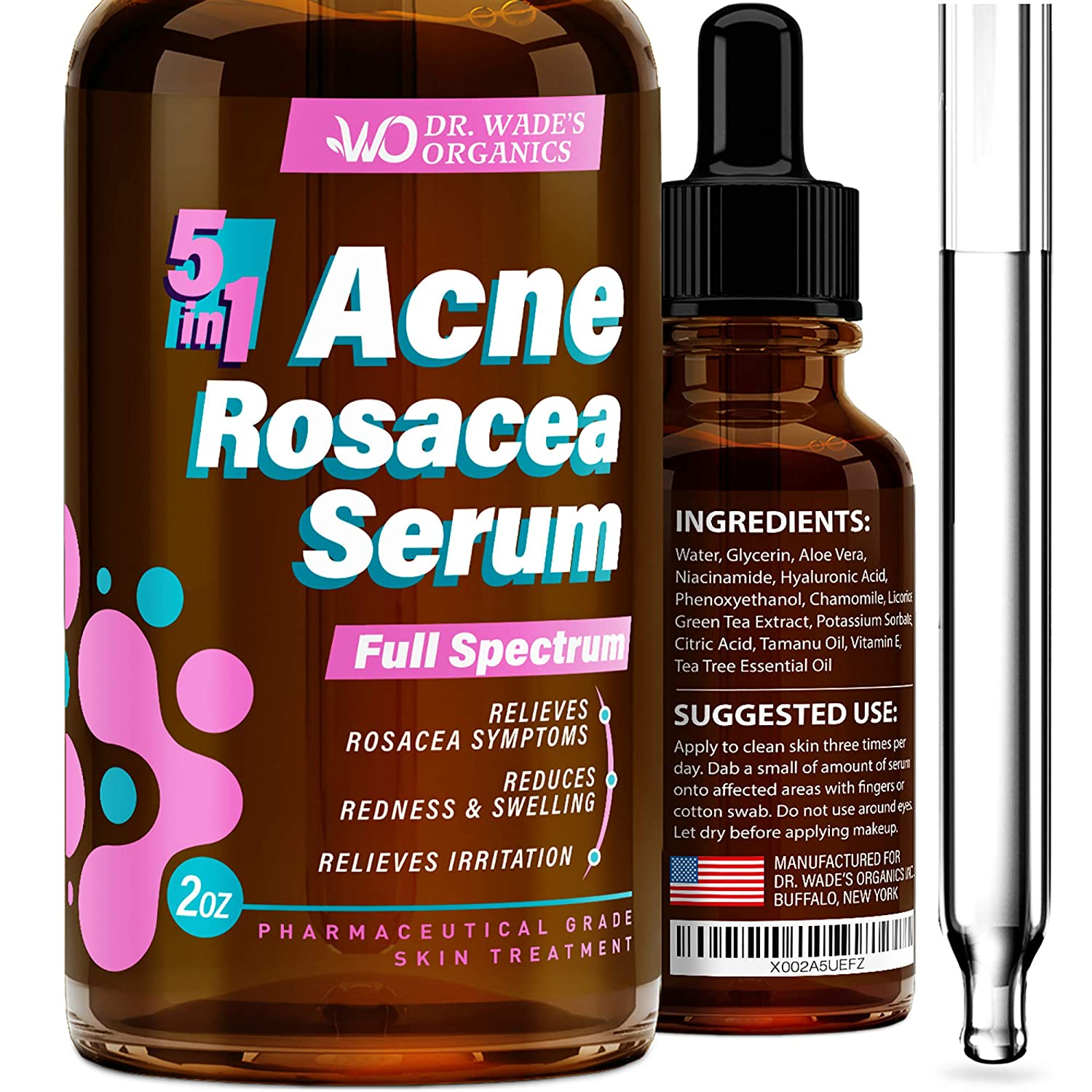 Dr. Wade's Organic 5 in 1 Acne Rosacea Serum