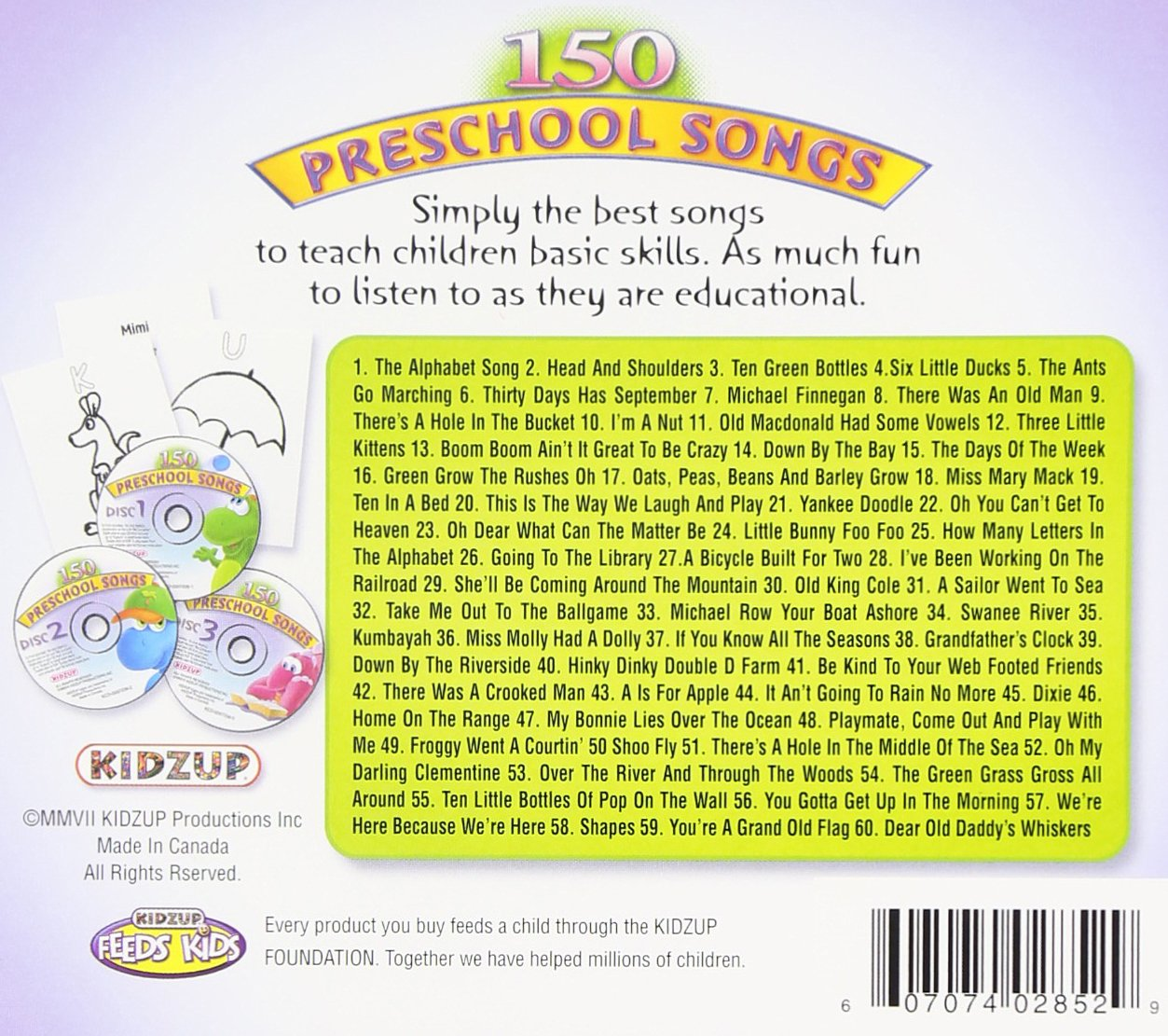 150 Preschool Songs - 150 Preschool Songs//3cd\'s - Amazon.com Music