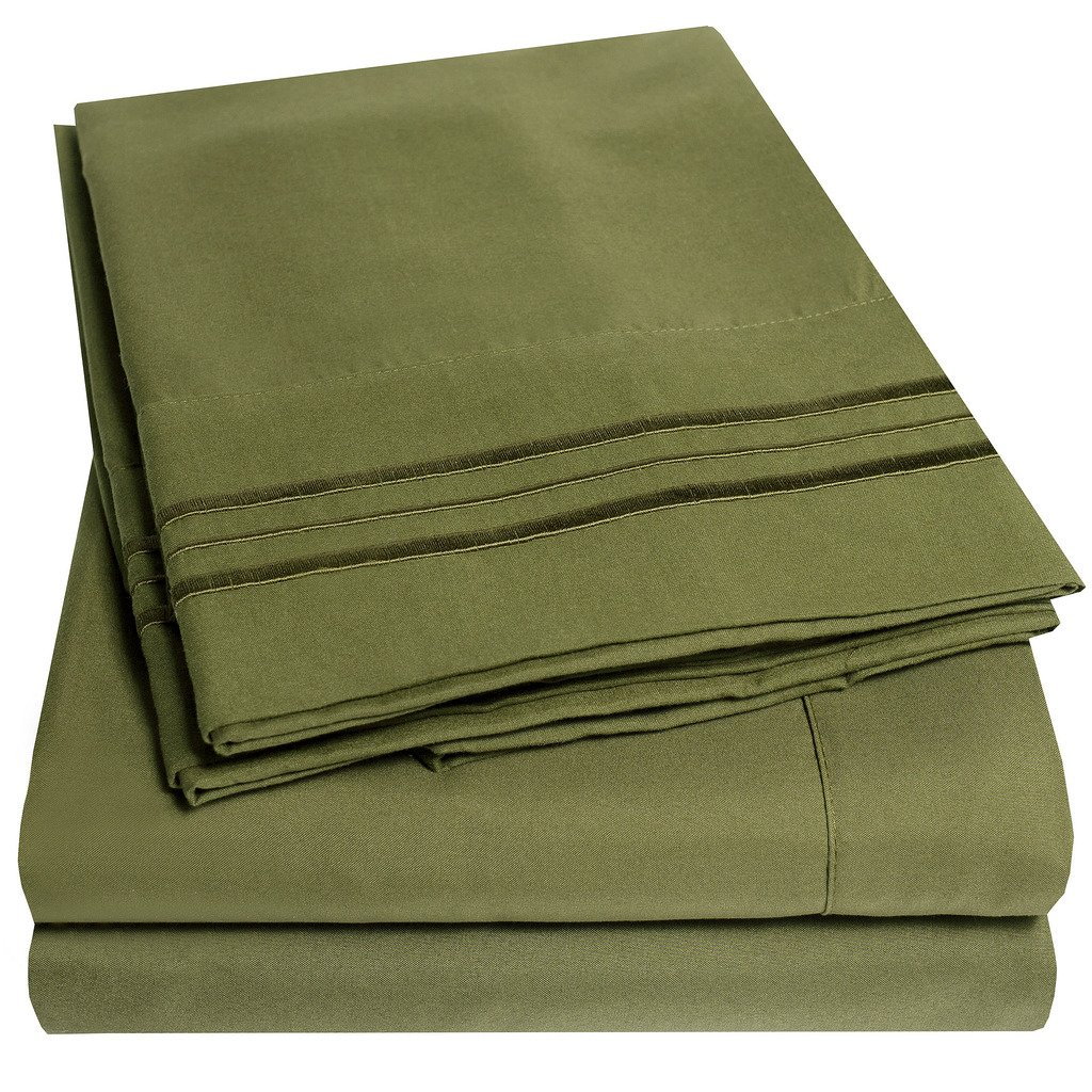 Hypoallergenic Bedding - Over 40+ Colors - Queen Size, Olive