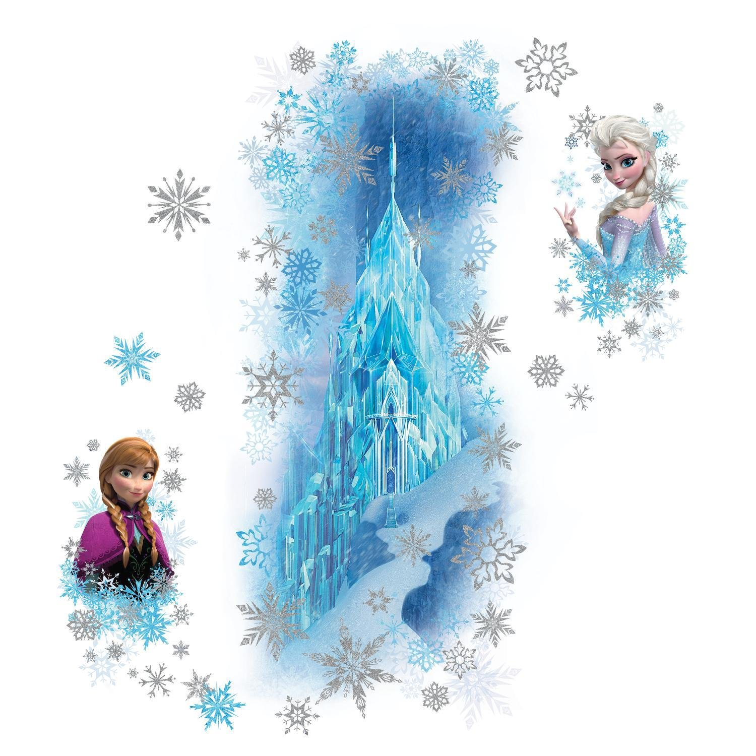 Amazon.com: RoomMates RMK2739GM Frozen Ice Palace With Else And Anna Peel  And Stick Giant Wall Decals: Home Improvement