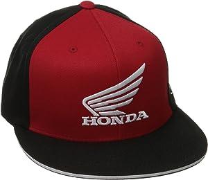 Factory Effex 15-88344'Honda' Big Wing Flex-Fit Hat (Black/Red, Small/Medium)