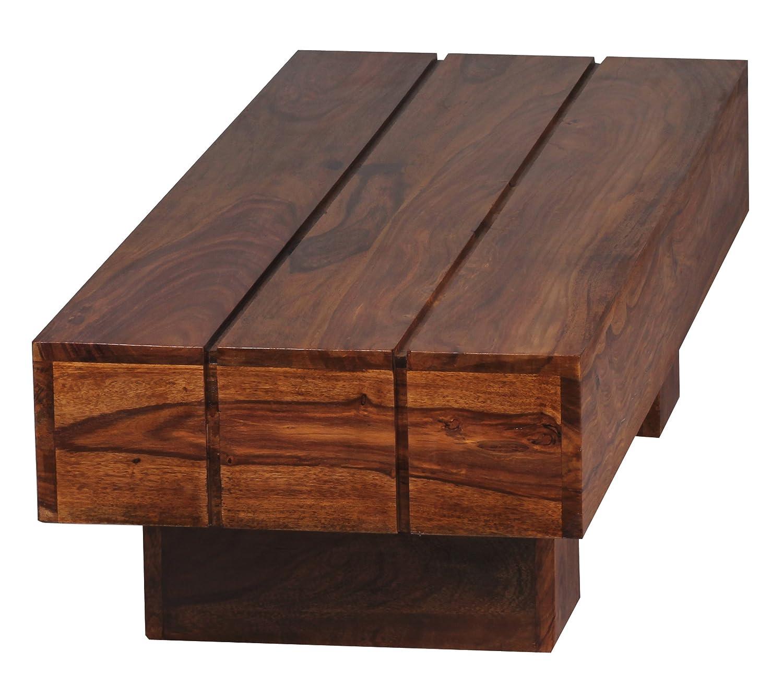 WOHNLING Couchtisch WL1325 Massiv Holz Sheesham 120 Cm Breit Wohnzimmer Tisch Design Dunkel Braun Amazonde Kche Haushalt