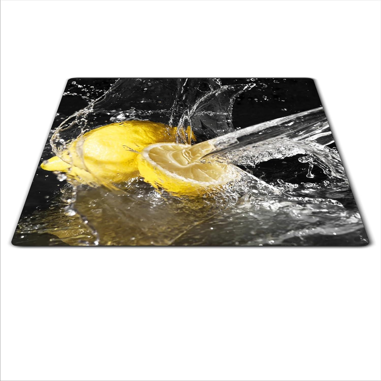 Herdabdeckplatte 59x52 für Ceran//Induktion Herdschutz aus Glas Zitrone motiv