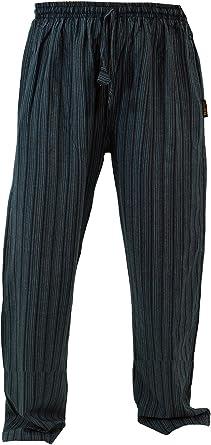 Guru Shop Pantalones De Yoga Pantalones Goa Negro Algodon Tamano M 48 Pantalones De Hombre Amazon Es Ropa Y Accesorios