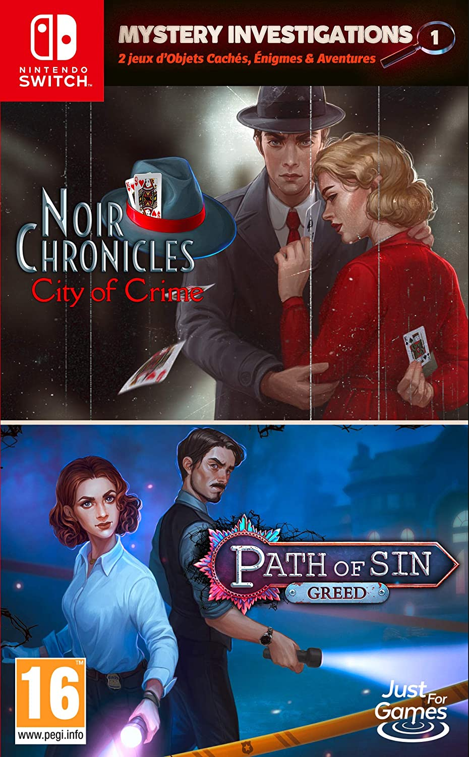 Mystery Investigations 1 - Path of Sin: Greed + Noir Chronicles: City of Crime Nintendo Switch Game: Amazon.es: Videojuegos