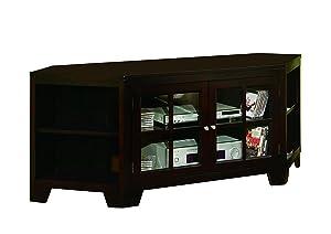 WILLIAMS HOME Furnishing 5152 Corner TV Stand, 62-Inch, Brown