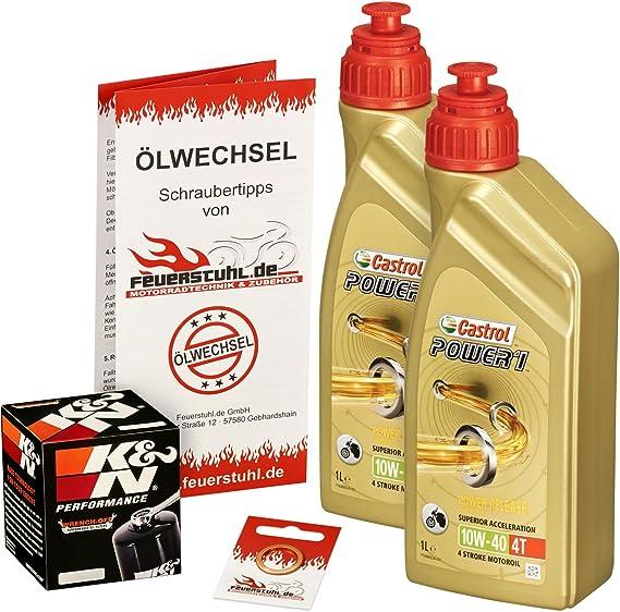 Castrol 10w 40 Öl K N Ölfilter Für Kawasaki Er6f Er6n 05 15 Ex650a Ex650c Ölwechselset Inkl Motoröl Filter Dichtring Auto