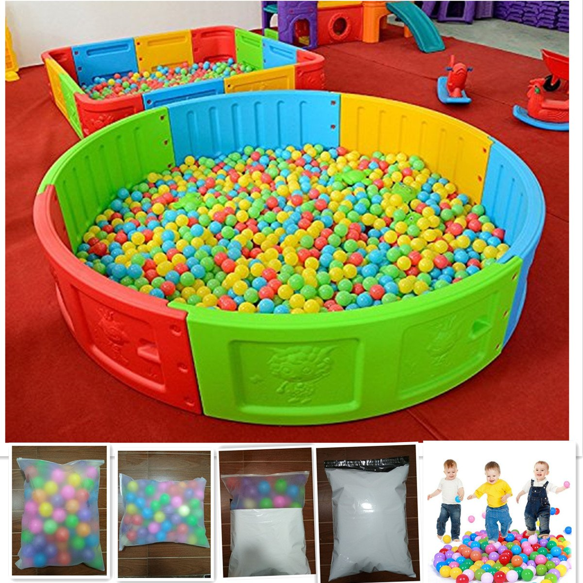 100pcs Soft Plastic Colorful Children Kids Secure Ocean Balls Baby Pits Swim Toys 5.5cm Kid Ocean Ball A-cool