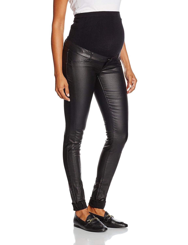 Mamalicious Women's Mlram Coated Slim Jeans Maternity 20006509