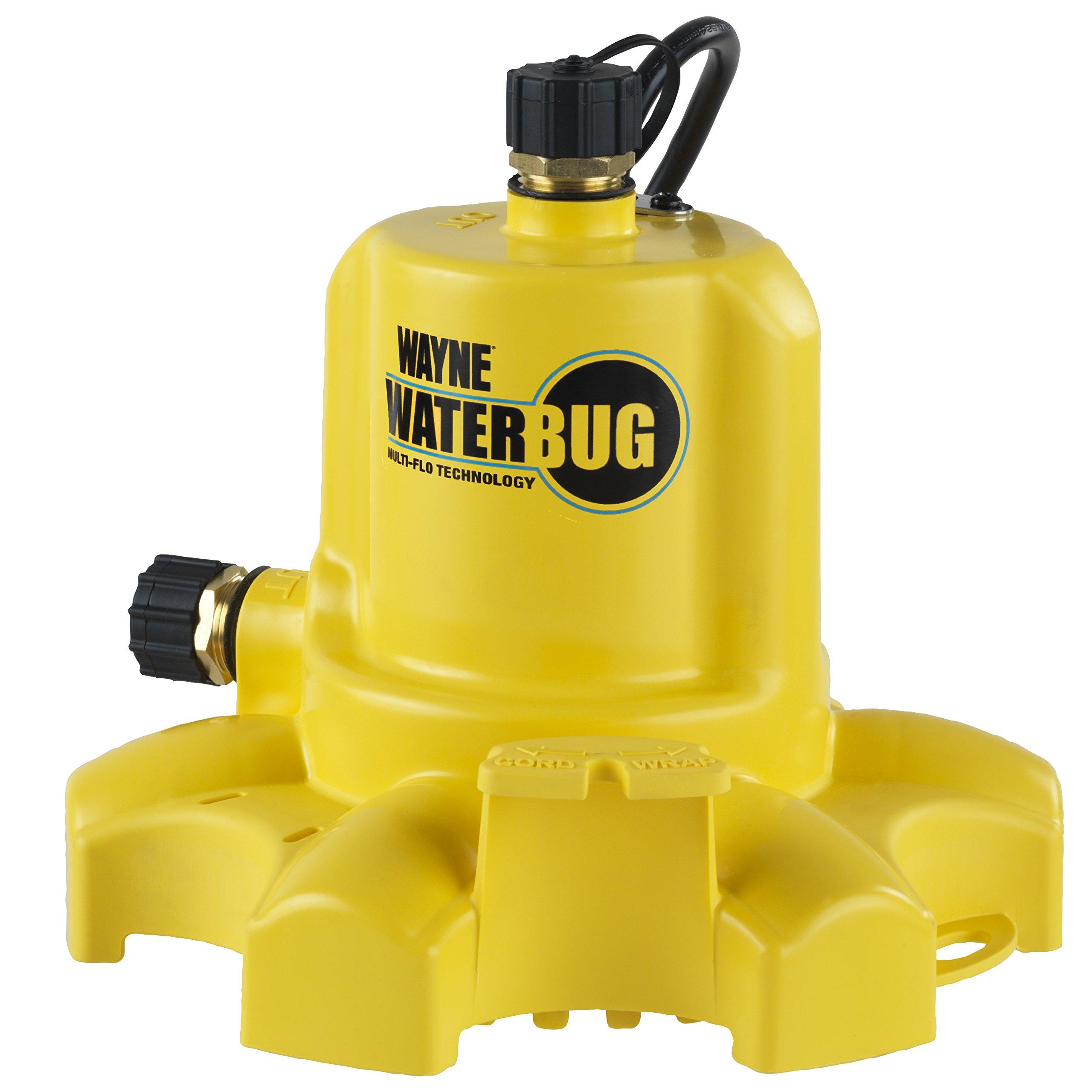 WAYNE WWB WaterBUG Submersible Pump with Multi-Flo Technology by Wayne