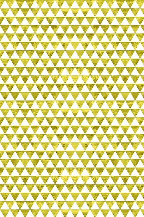 Oro/Blanco rústico triángulos amor patrón silueta de hoja de ...