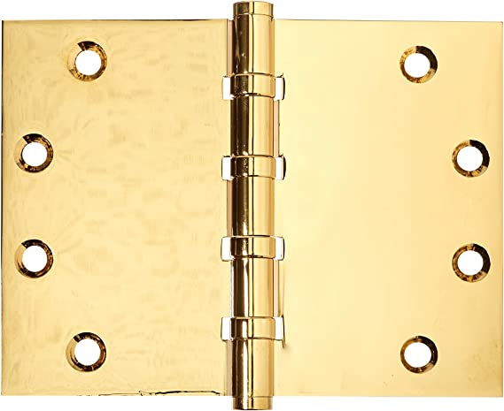 Deltana DSB4560BB10B Solid Brass 4 1//2-Inch x 6-Inch Square Corner Hinge
