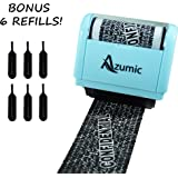 Wide Roller Stamp for Identity Theft Protection + 6 Pack Refills | Confidential Privacy Prevention ID Guard Security Roller Stamps - by Azumic