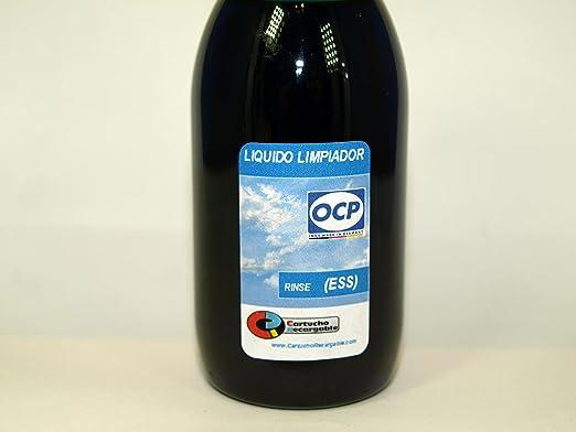 OCP Rinse (ESS) - Liquido Limpiador para Cabezales e Inyectores en Impresoras y Cartuchos Epson/Brother, 100 ml, Azul: Amazon.es: Oficina y papelería