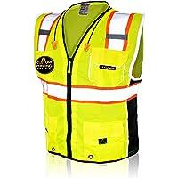 PROSPO High Visibility Executive Multifunctional Safety Vest