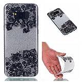 Samsung Galaxy S8 Plus Case, Samsung Galaxy S8 Plus Cover Case, Cozy Hut [Shiny Case] [Bling Crystal] Pretty Fashion Ultra Thin Sparkle Case Premium 2 Layer Hybrid Semi-transparent / Exact Fit / Anti-Scratch / Soft Case for Samsung Galaxy S8 Plus - Black lace