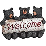 Design Toscano Black Bear Cubs Welcome Statue