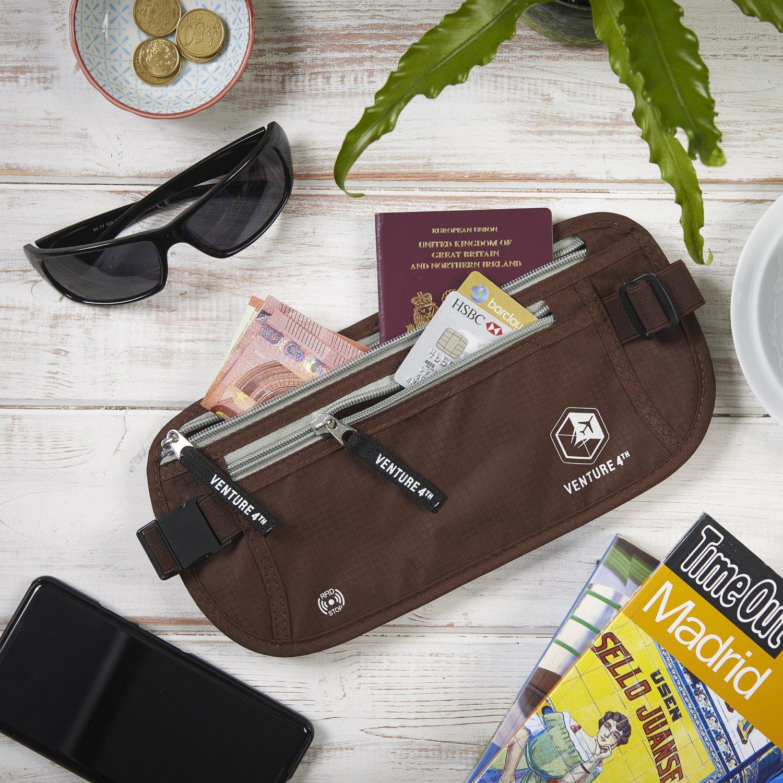 /Hidden cintura titular del pasaporte con RFID  de bloqueo de tecnolog/ía es dise/ñado para protecci/ón antirrobo superior y comodi Dinero de viaje cintur/ón/ /mantiene tu dinero seguro cuando viajas/