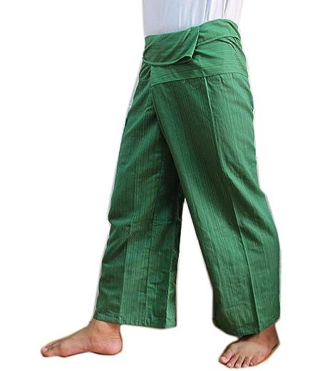 Amazon.com: 100% algodón Heavy Thai Pescador pantalones ...