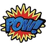 """Parche para planchado, con estilo cómic, letras """"POW"""""""