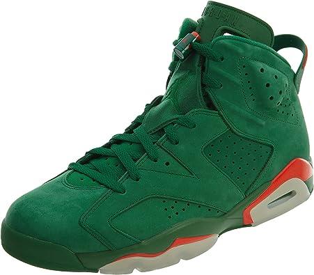 Amazon.com | NIKE Mens Jordan 6 Retro Gatorade Pine Green Suede ...