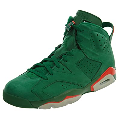 timeless design de8d8 44fdf Amazon.com | NIKE Mens Jordan 6 Retro Gatorade Pine Green ...